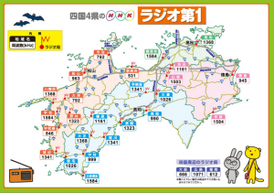 四国4県のNHKラジオ第一